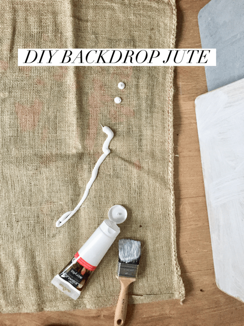 diy backdrop food