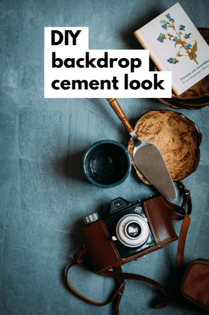 DIY Backdrop cementlook- food fotografie