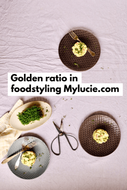 golden ratio foodstyling Mylucie.com