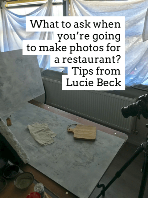 Tips Lucie Beck food photographer