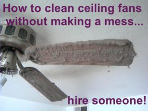 Dirty ceiling fan