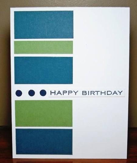 مستطيلات ملونة على بطاقة بريدية
