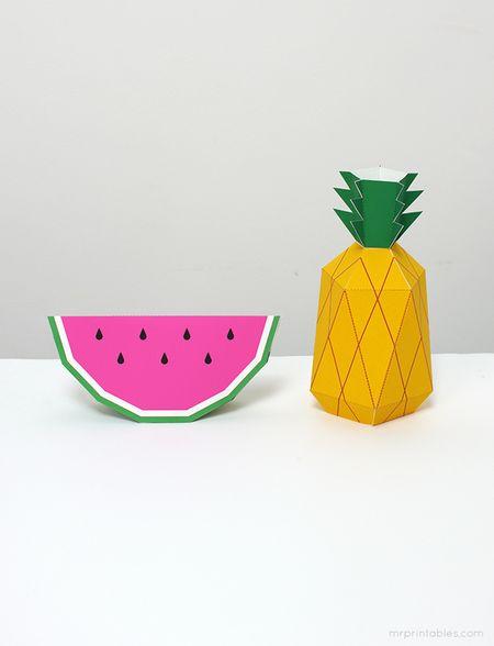 Как сделать фрукты из бумаги своими руками + шаблоны для ...