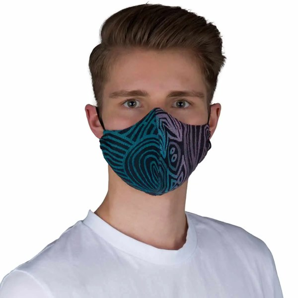 Gesichtsmaske Jaipur schwarz