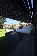 Une des terrasses de votre maison de prestige à Bordeaux