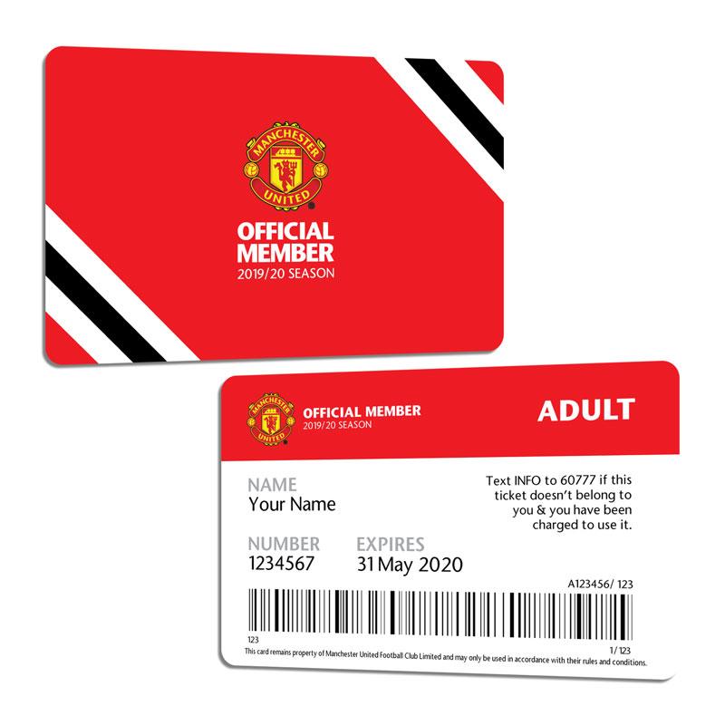 Man Utd Official Membership Card