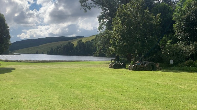 An overnight stay on the Midlands Meander - A view of the Rowe dam at Crystal Barn in the Midlands
