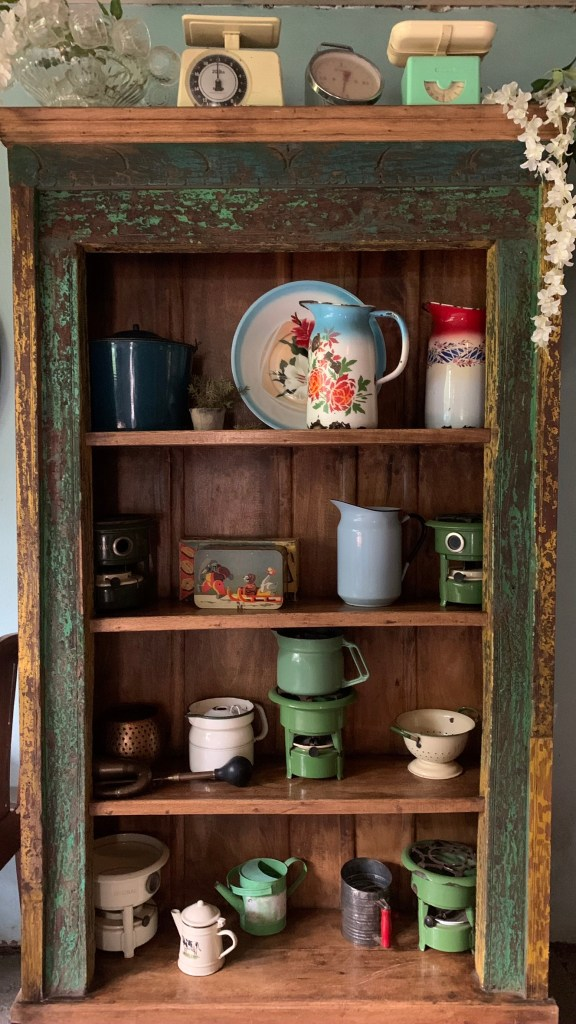 A Collection of antique homeware at Crystal Barn Midlands
