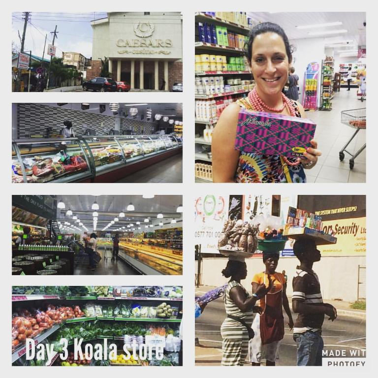Imagining expat life in Accra Ghana and exploring Koala Supermarket in Accra to see what groceries are available.
