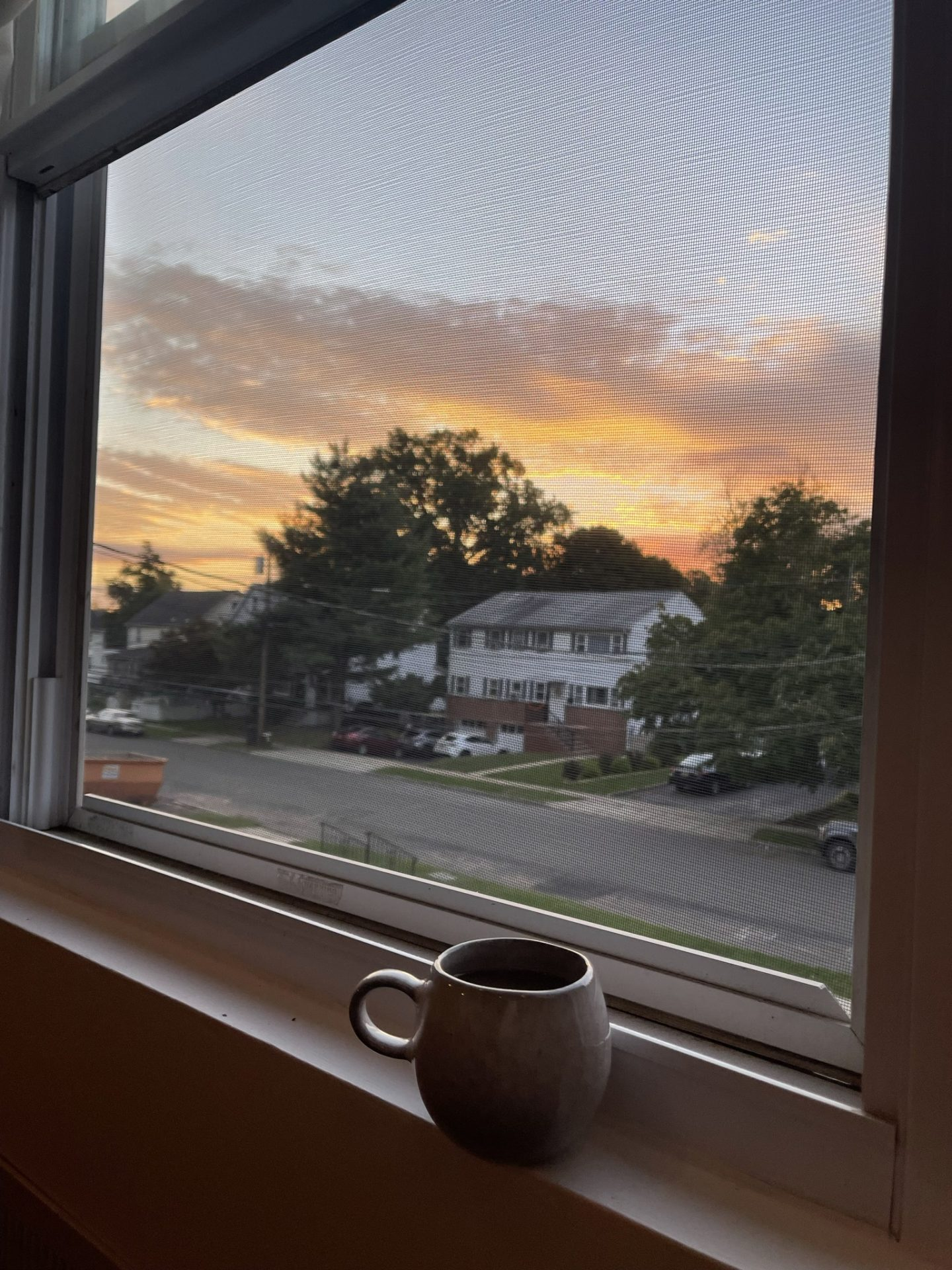Moving to New Jersey - coffee with a sunrise
