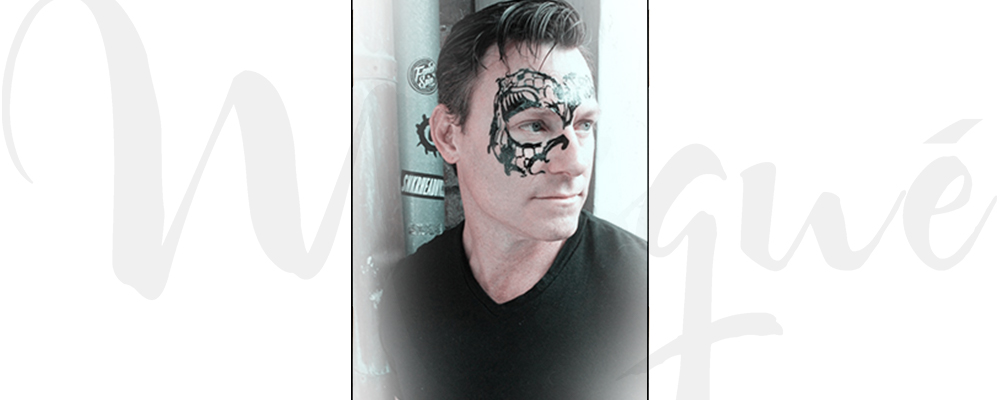 Men's Masquerade Mask - Temporary Tattoo