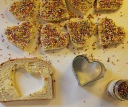 bread, butter, sprinkles