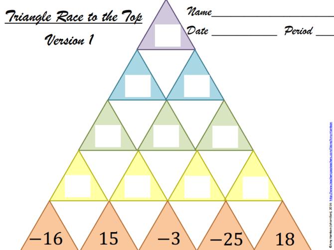 Triangle Race
