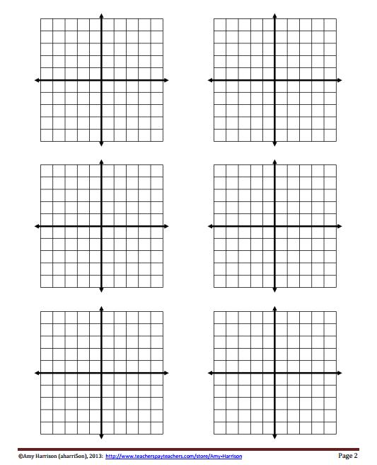 My Math Resources - Blank Coordinate Planes