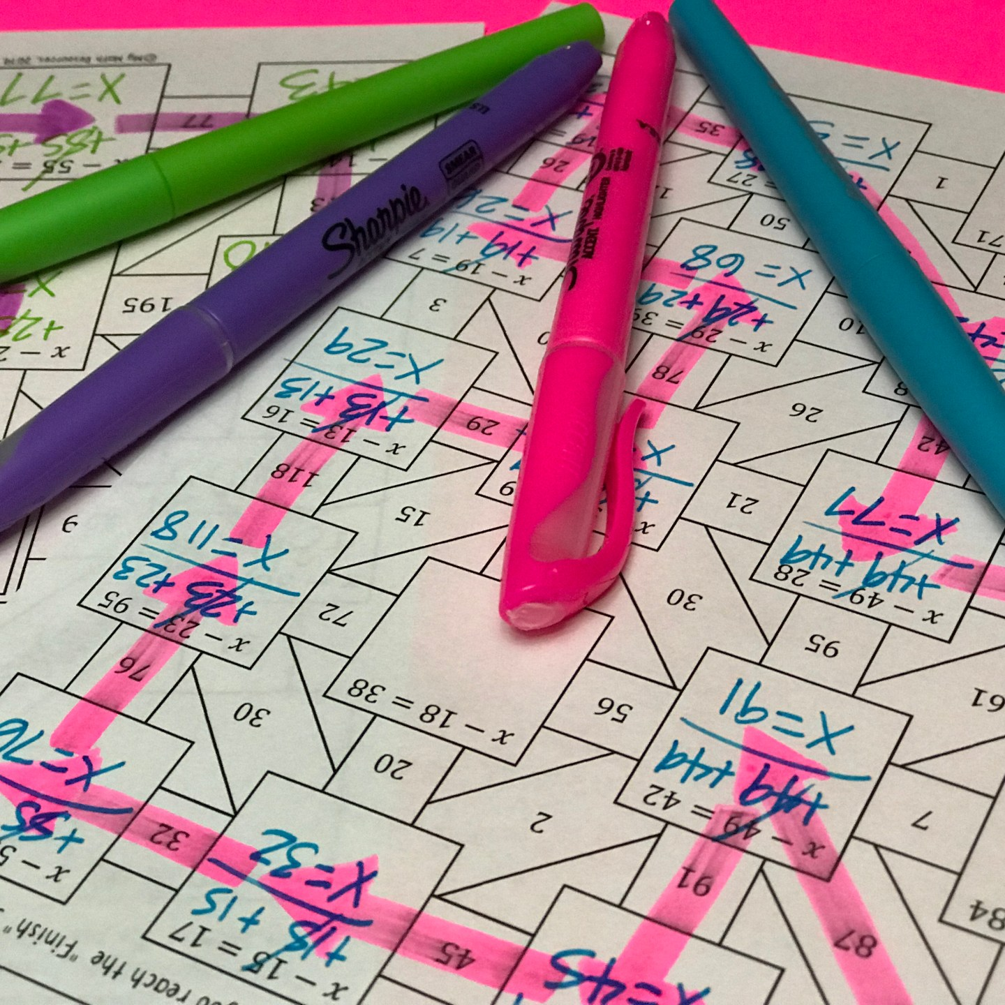 Fun Maze for Subtraction Equations Practice! 5th, 6th, and 7th Grade Math Students will LOVE this! Replace that boring worksheet. Perfect for practice or review before a test! #math #teacher #mathteacher #algebra #geometry #percent #decimal #fractions #middleschool #jrhigh #conversions #review #test #quiz #6th #7th #8th #grade #activity #tpt #teacherspayteachers #teacherlife #student #education