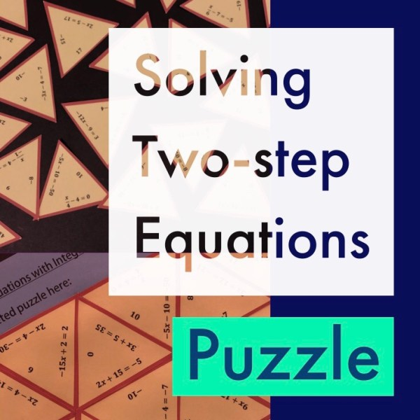 Solving Two Step Equations Triangle Puzzle
