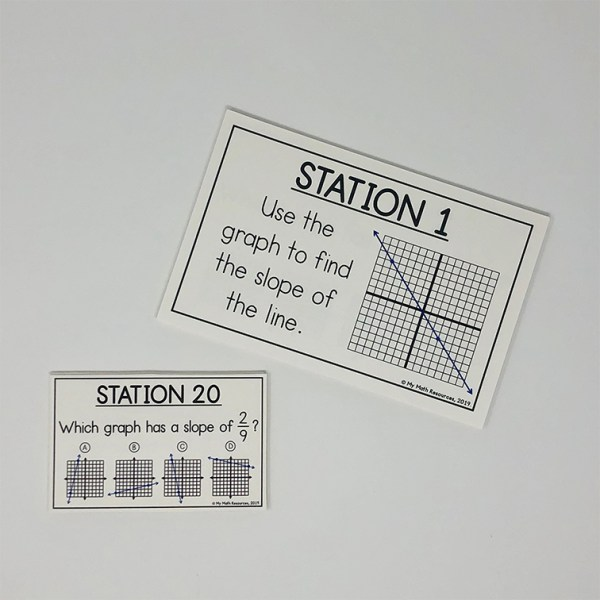 Slope of a Line Stations or Task Cards