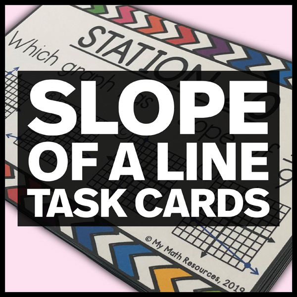 slope of a line task cards