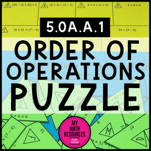 5.OA.A.1 Order of Operations Puzzle