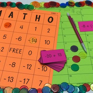 Adding Integers MATHO (Bingo Game)