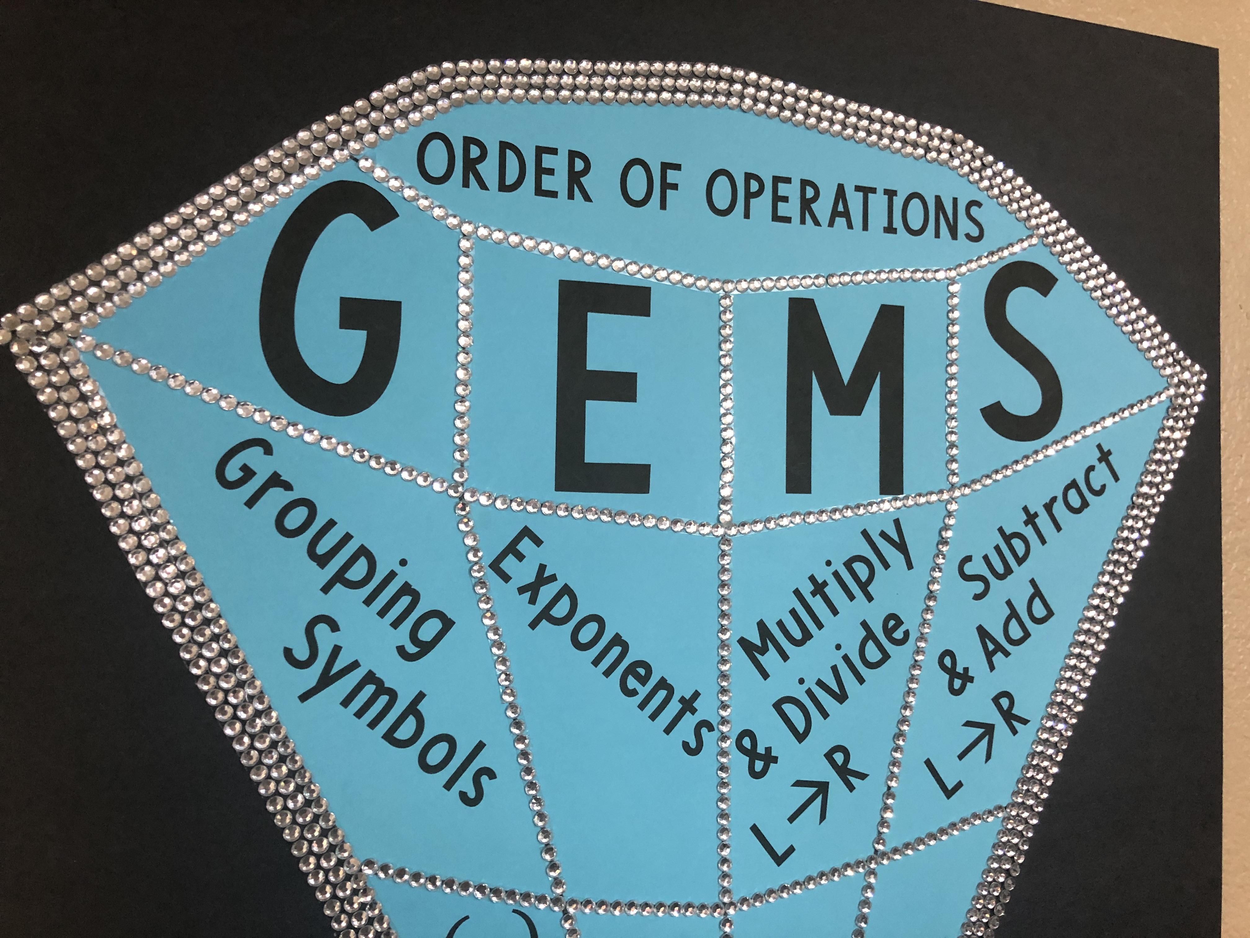 GEMS Diamond Poster