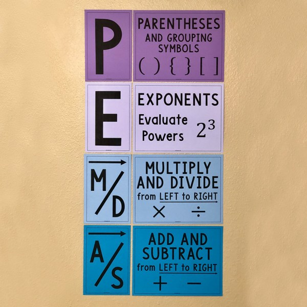 PEMDAS Order of Operations Poster