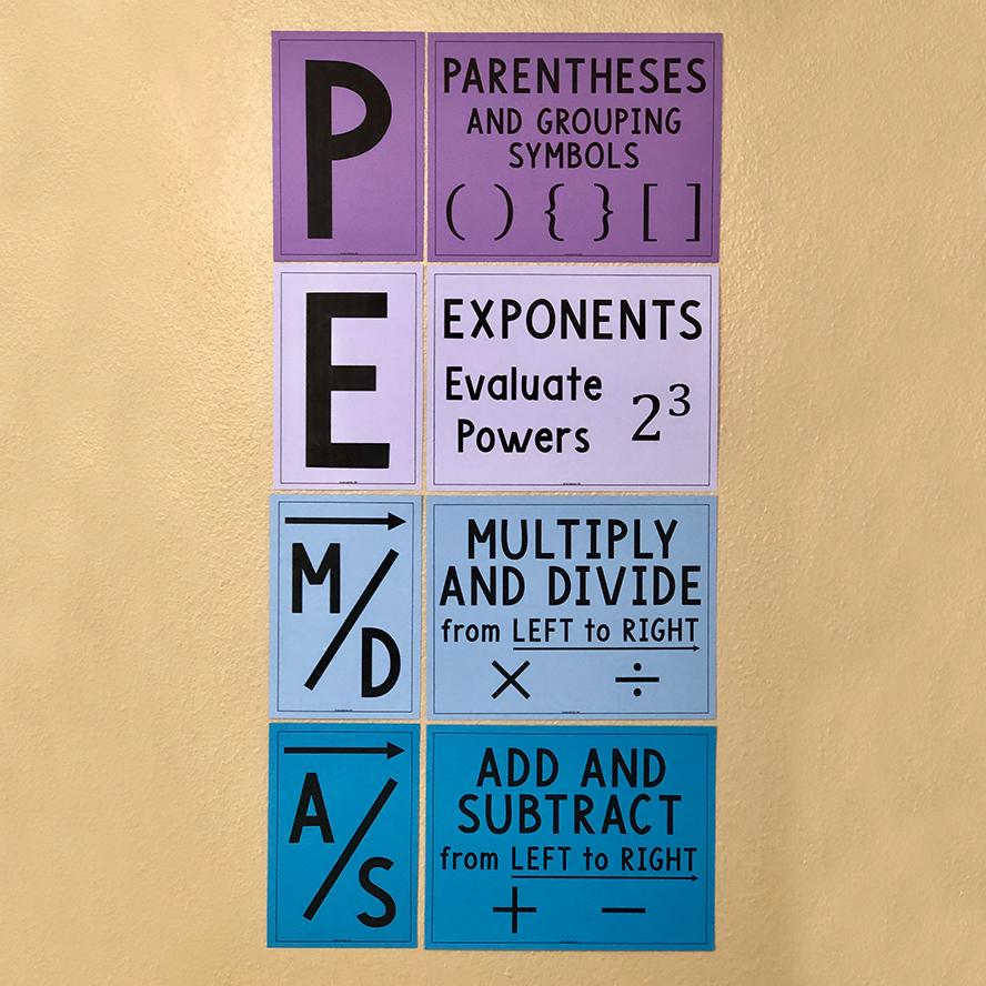 PEMDAS Order of Operations Poster