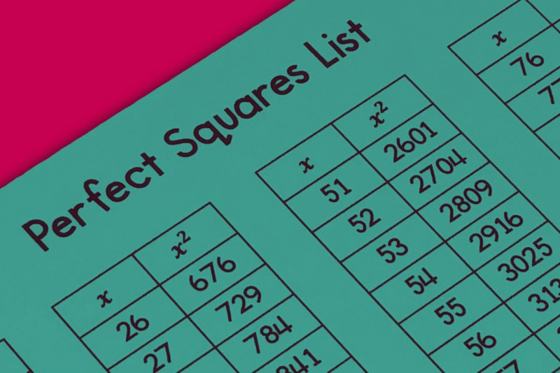 It can be very overwhelming to work with square roots of non-perfect squares.  Use this square roots reference card and perfect squares sheet to help your students as they begin working with squares and square roots.  #mathteacher #math #maths #teacher #algebra #geometry #mathproblems #study #iteachsixth #iteachseventh #iteacheigth #6thgrade #7thgrade #8thgrade #middleschoolmath #teacherspayteachers #teachersfollowteachers #teacherinspiration