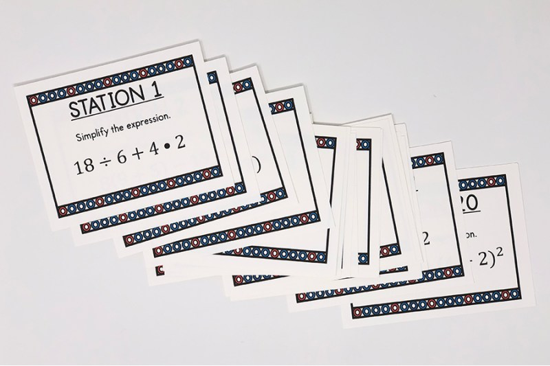 These order of operations task cards are a great way for your 6th, 7th, or 8th grade math class to practice or review order of operations.  Your class will LOVE this activity!