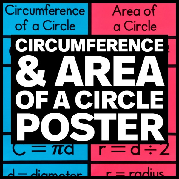 Circumference & Area of a Circle Poster