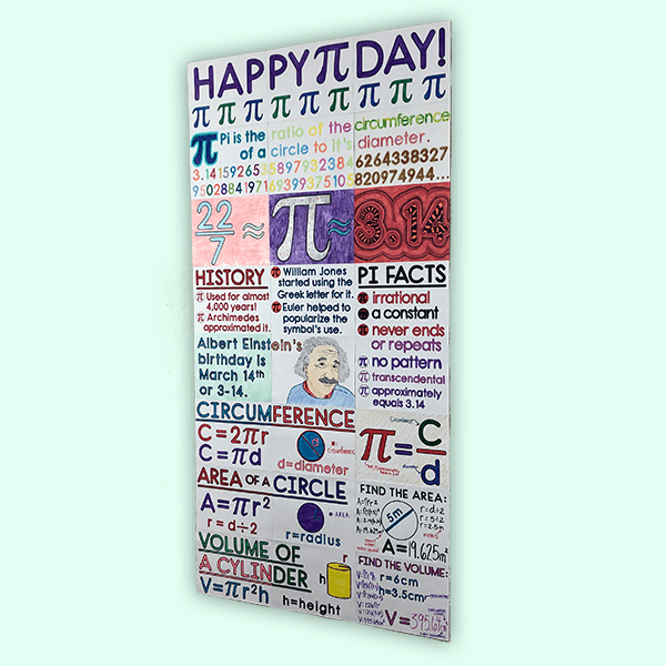 This HUGE collaborative poster is a fun way for your middle school math class to celebrate Pi Day. Your 6th, 7th, or 8th grade class will LOVE this Pi Day Activity!