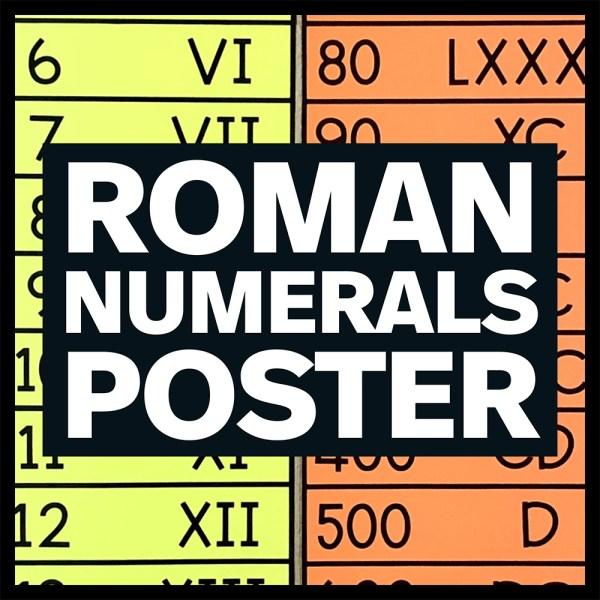 Roman Numerals Poster