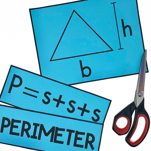 Perimeter and Area of a Triangle Poster