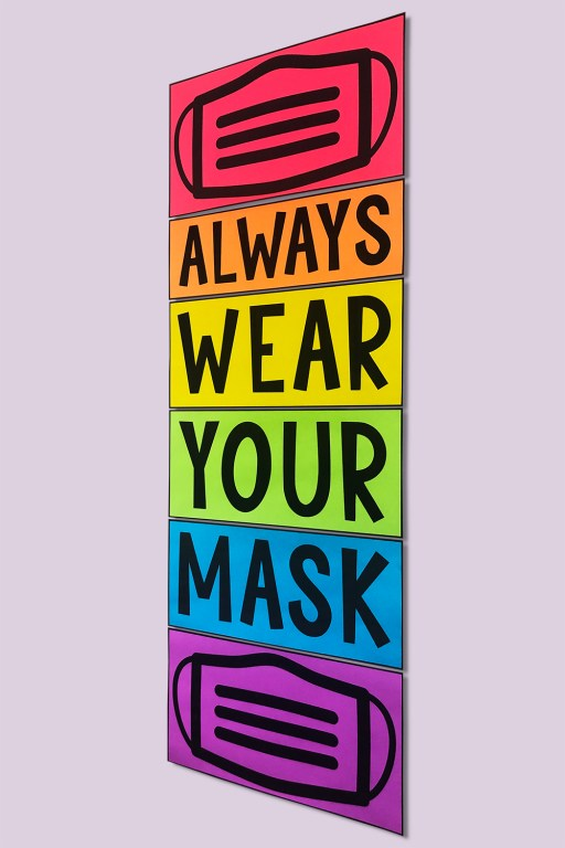 Help remind your class to comply with your masking policy by displaying this wear your mask poster prominently in your classroom!