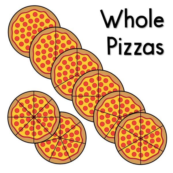 Pizza Fractions Clip Art
