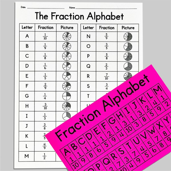 The Fraction Alphabet
