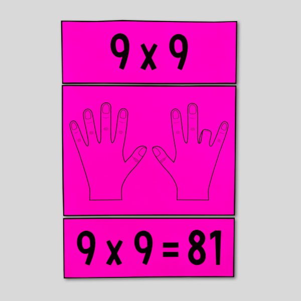 Multiply by 9s Hand Trick Poster