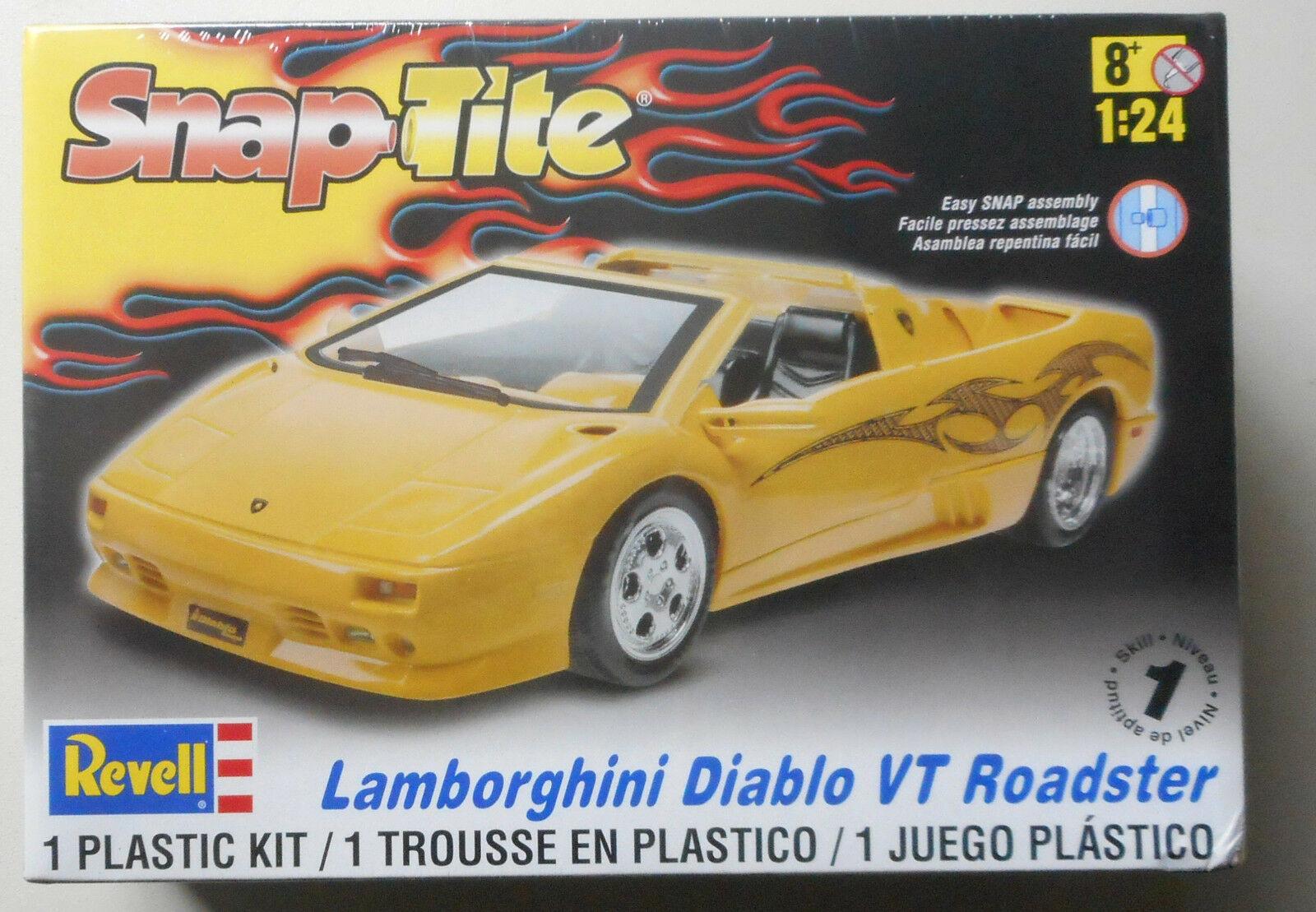 1 24 Lamborghini Diablo Vt Roadster Snap Tite Revell Model Kit Skill