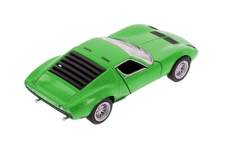 1 34 Green Lamborghini Miura P400 Kinsmart Diecast Car 5 Smaller
