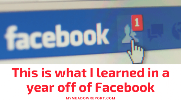 This is what I learned when I broke the Facebook habit