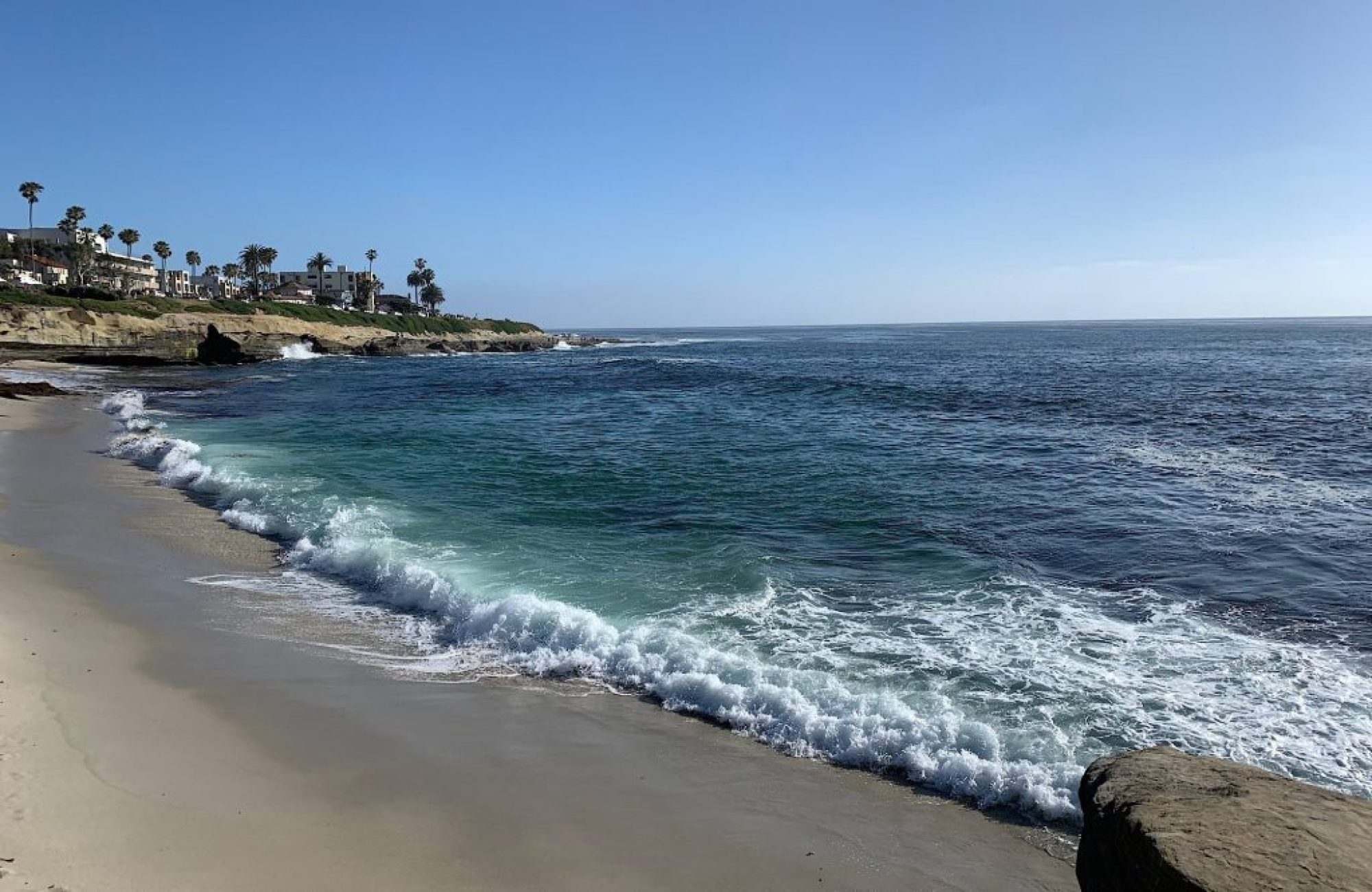 La Jolla blue sky beach