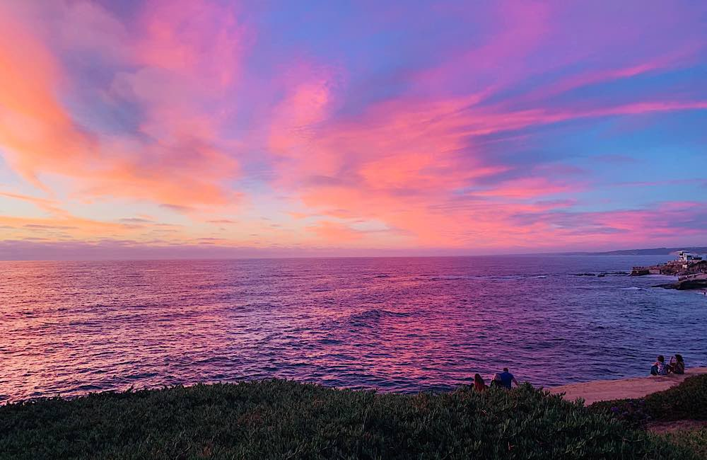 La-Jolla-sunset-purple-Sky-clouds