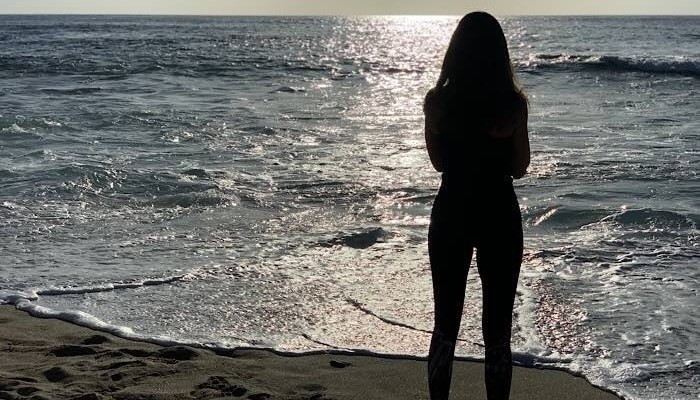 Renee on beach in La Jolla April 2019