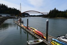 La Conner's Rainbow Bridge that crosses the Swinomish Channel.