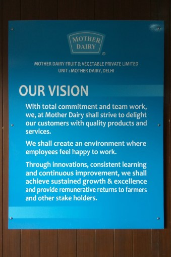The vision statement of Mother Dairy