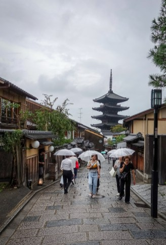 Old narrow streets of Kyoto