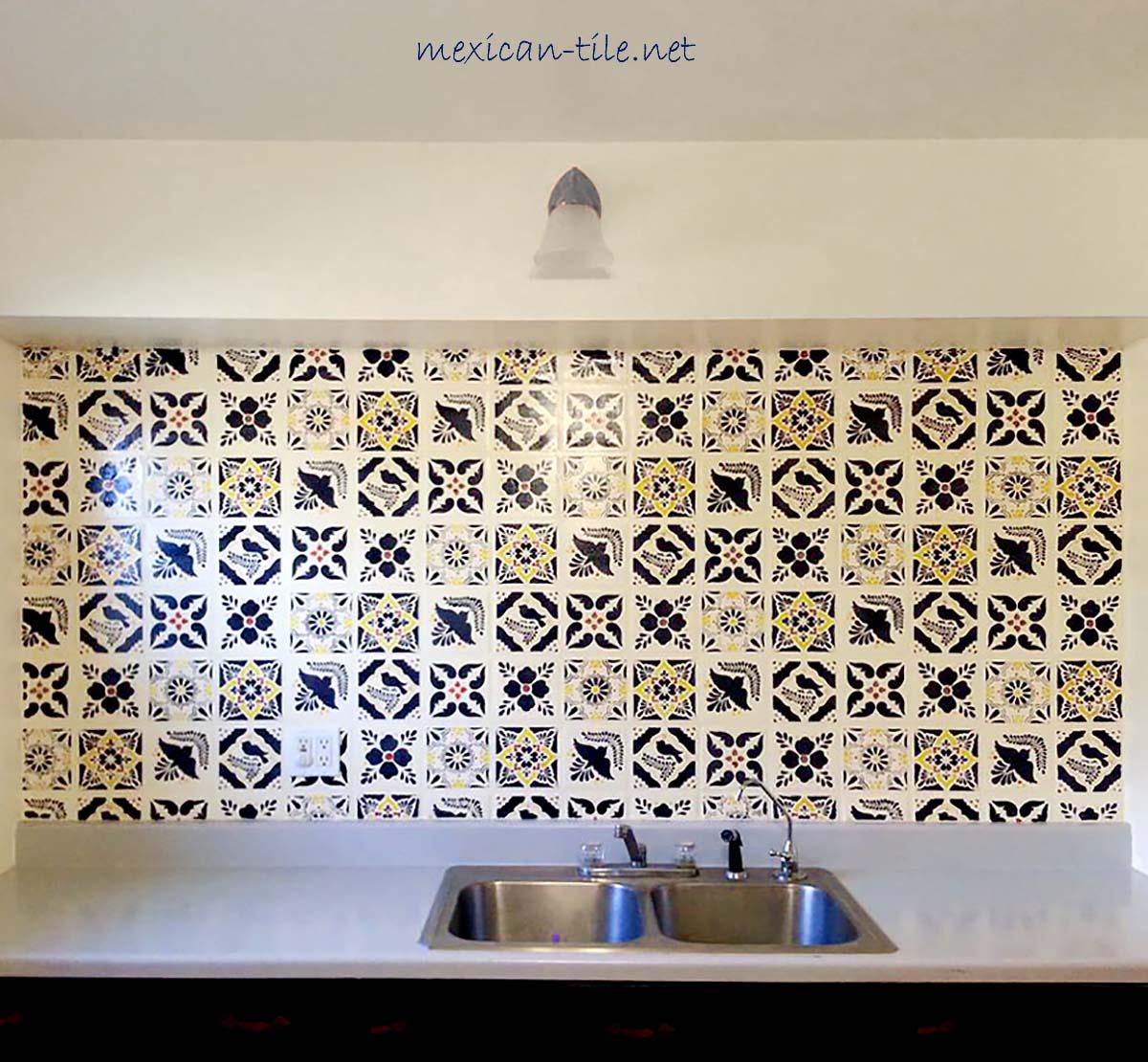 mosaic tile backsplash mexican tiles