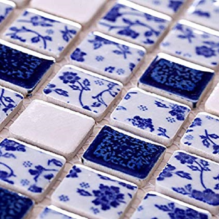 blue and white ceramic tiles mexican