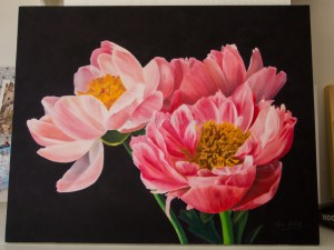 'Peonie Love' oil on canvas - November 2014 24x30inches