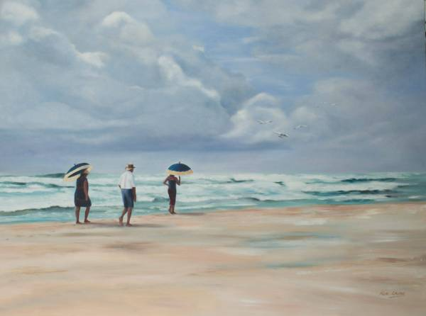 "Artist Mia Laing - Western Australian award winning artist. ""Man in the Middle'oil on canvas 2016 30x40'/72x101cm"